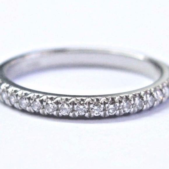 f6ffb16f10e2f Tiffany & Co Platinum Soleste Diamond Band Ring .1